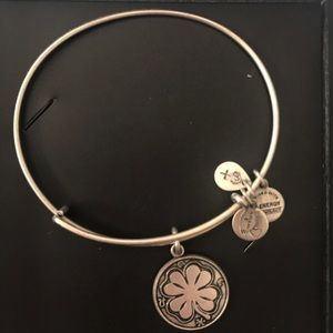 Alex and Ani Silver Shamrock Charm Bracelet